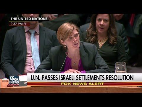Samantha Power vote on Israeli settlements