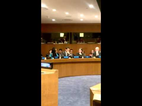 Gwendolyn Myers speaks at the UN Peacebuilding Commission