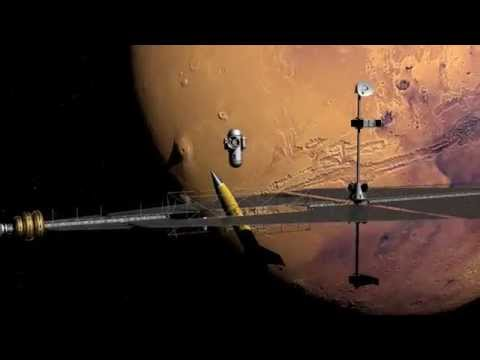 Mars ion rocket - test animation