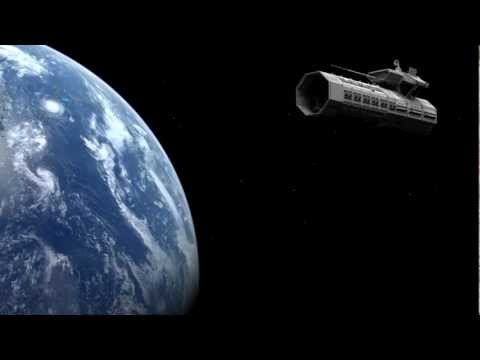 From Earth to Moon, 2001 A Space Odyssey style.