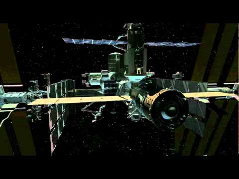 A second animation past the ISS