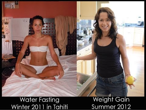 Freelee Is Right - Water Fasting and Weight Gain - Before and After