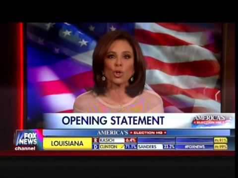 Judge Jeanine Pirro - Opening Statement - Attacks Mitt Romney for Hitting Donald Trump - 3/5/16