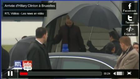 RTLTVi SecState Arrives in Brussels