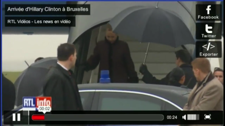 RTLTVi SecState Arrives in Brussels