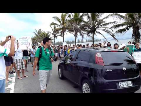 Protest against the construction of a Hyatt resort at a Natural Reserve.