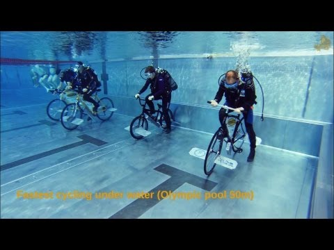 Under Water Cycling World Records 2013