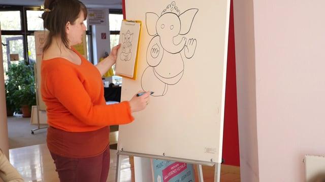 Ganesha Zeichenkurs mit Claudia Uckel von Mandalala