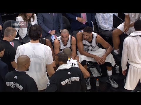 Spurs Players Coach themselves During Timeout | Cavaliers vs Spurs | Jan 14, 2016 | NBA