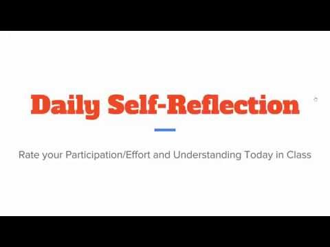 Teaching Students to Self Assess & Reflect