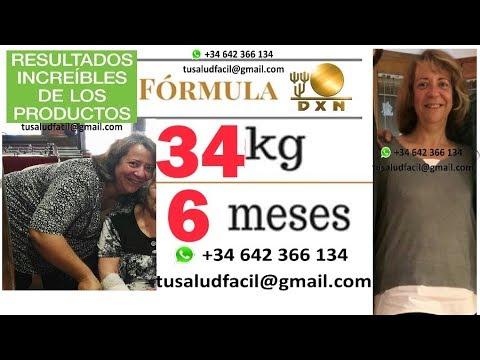 34 kilos en 6 meses