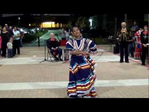 La Negra being dance at a LULAC Dia de Muerto event at Central Texas College, Killeen, Texas