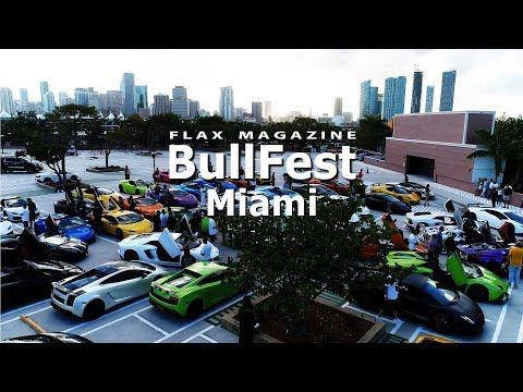 BULLFEST Miami 2018 - Over 100 Lamborghinis Take to the Streets of Miami.