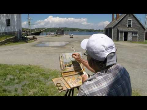 Plein Air Painters of the Maritime Gallery at Mystic Seaport
