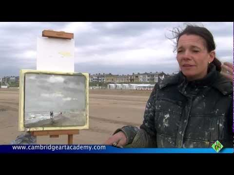 Seascape demonstration in oils by artist Roos Schuring