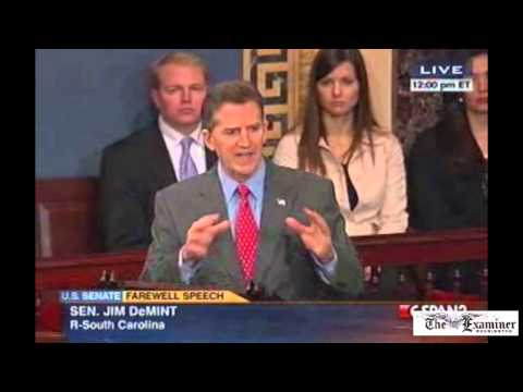 DeMint bids farewell to the Senate: 'I'm not leaving here to be an advocate of the Republican Party