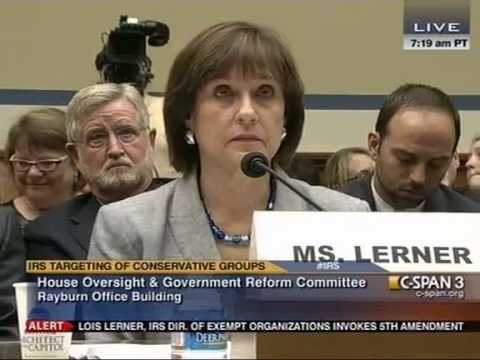 IRS Official Lois Lerner Pleads The Fifth, Dismissed From Scandal Hearing