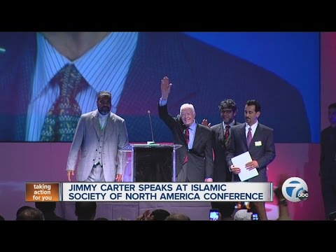 Jimmy Carter speaks at Islamic convention