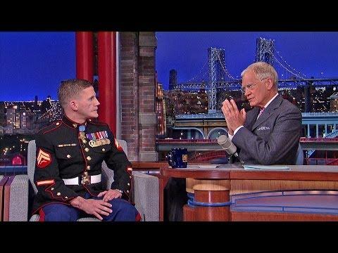 David Letterman - Medal of Honor Recipient, Cpl. Kyle Carpenter: Under Attack