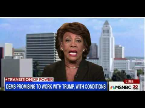 Rep. Maxine Waters On Trump:  I Have No Intentions Of Sitting Down With Him !