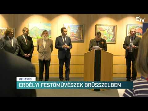 Erdélyi festőművészek Brüsszelben – Erdélyi Magyar Televízió