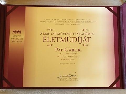 Pap Gábor életműdíjat kapott