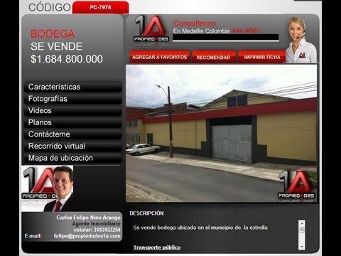se vende Bodega en la Estrella Antioquia Propiedades1A código pc-7876