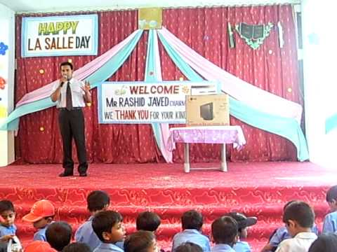 Rashad get welcomed as chief guest in his school Lasalle
