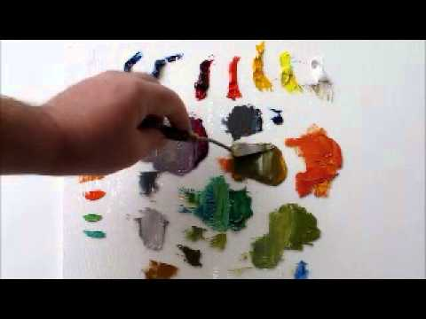 How to Mix Color:Oil Painting, How to Mix Grays