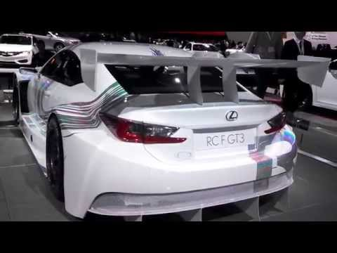 Lexus RCF GT3 walk about at the 2015 New York International Auto Show