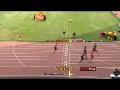 Jamaican Men Demolished 4x100m Relay Heat 2 IAAF World Championships Beijing 2015