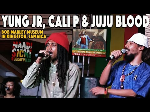Yung JR, Cali P & Juju Blood @ Bob Marley's 71st Birthday Celebration in Kingston, JA [2/6/2016]