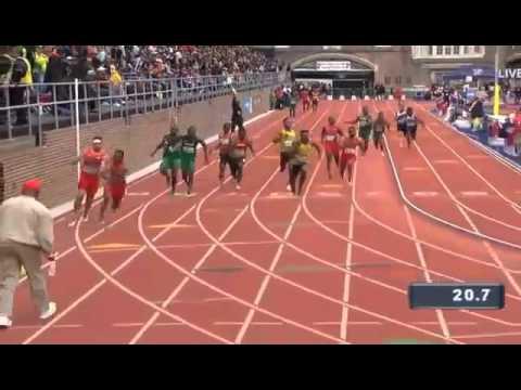 Jamaica wins USA VS THE WORLD MEN'S 4x100m @pennrelays 2016