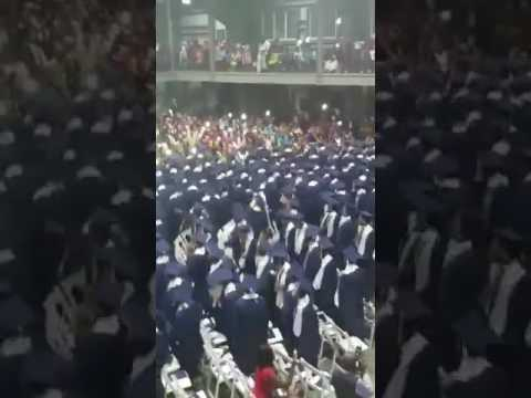 Jamaica College Students sing and dance to Chronixx likes at graduation (Dweet fi the love)