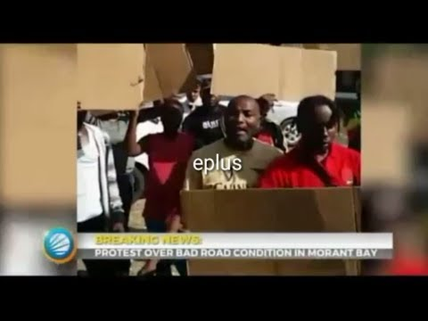 Popcaan & the Unruly gang Protest Over Bad Road Condition In Morant Bay (Jamaica news Aug 31, 2017)