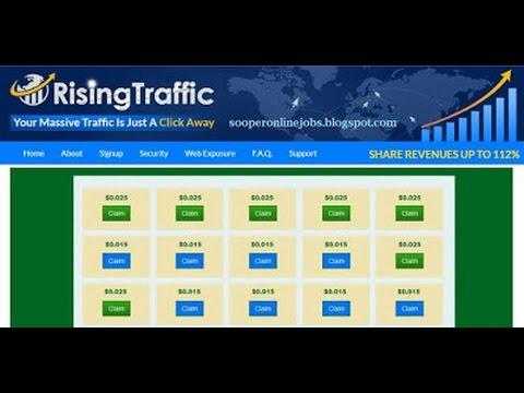 Бесплатный заработок в интернете! Новинка Rising Traffic!