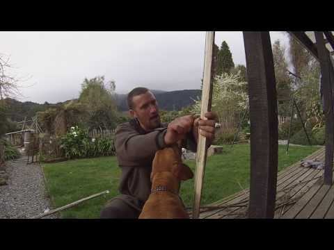 Make your own long bow, native tree frogs and Svord Bowie Knife review