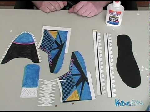 Art 2:How to make a paper shoe