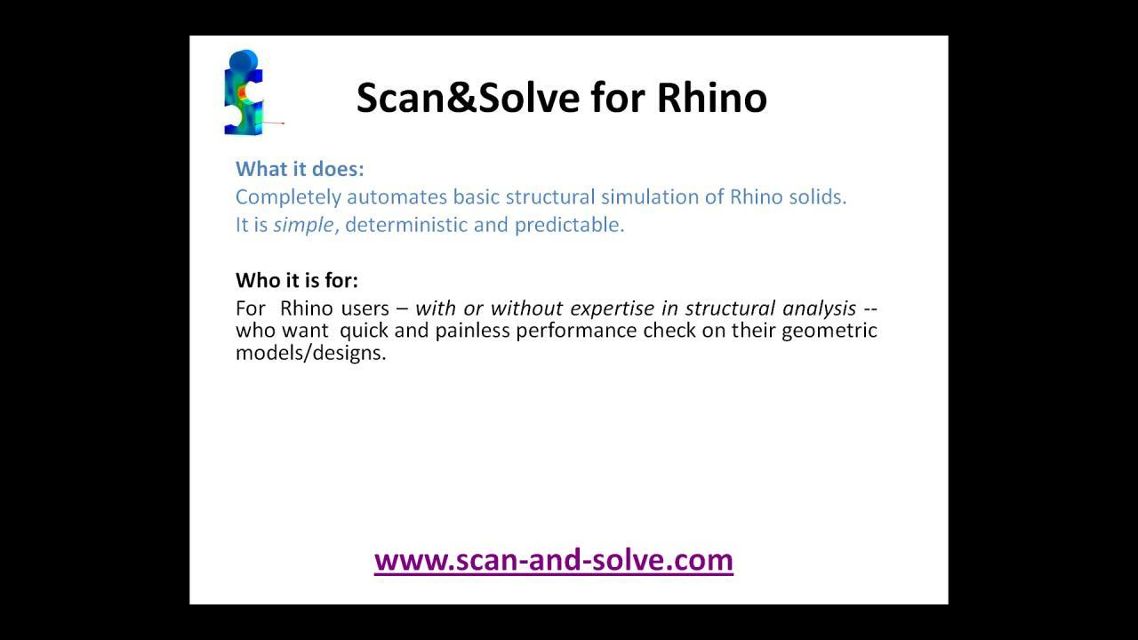 Scan&Solve for Rhino - Webinar  Sep 8, 2011