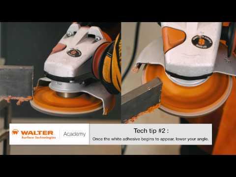 Walter Academy - How to Trim Flap Discs