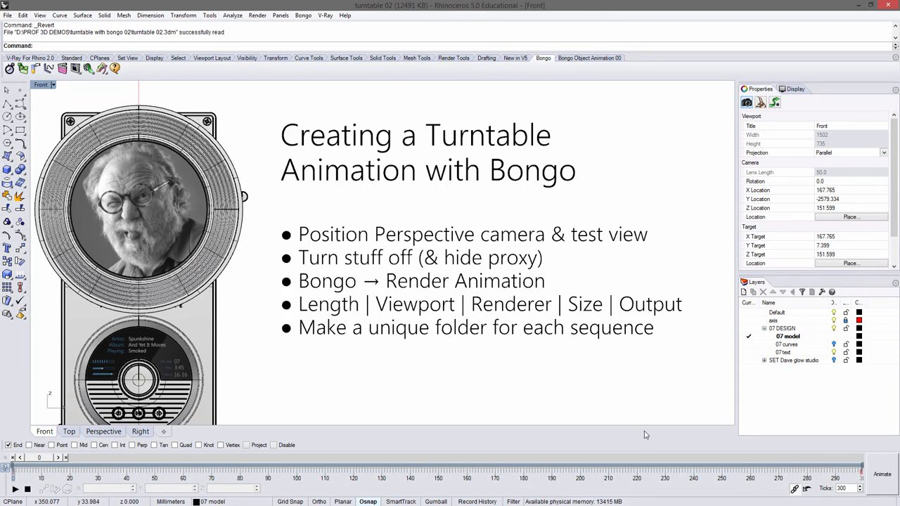 Turntable Animation with Bongo (Part 2)