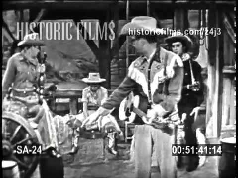 "Andy, Elvis, and Imogene Coca on THE STEVE ALLEN SHOW 1956 ""Range Roundup"" comedy skit"