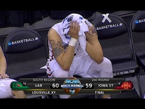UAB upsets Iowa State (3 v 14) in 2015 NCAA Tournament (March 19, 2015)
