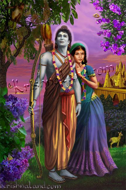 Lord rama & Sita in Forest