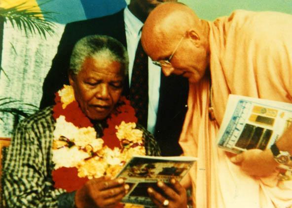 Indrayumna Swami and Nelson Mandela