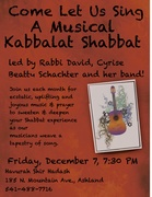 Musical Kabbalat Shabbat - Preparing for the Light of Hanukkah