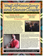 West African Dance, Song and Flute Workshops