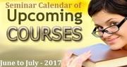 Seminar Calendar of Upcoming Courses - June to July - 2017