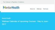 Webinar Calendar of Upcoming Courses - May to June – 2017