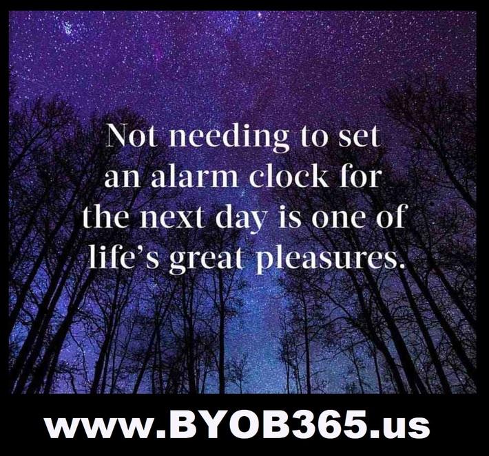 Not Needing To Set An Alarm Clock